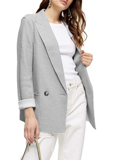 Topshop Raw Edge Double Knit Blazer