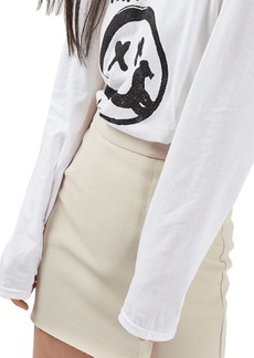 Topshop Raw Edge Miniskirt