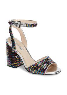 Topshop Reaction Sequin Block Heel Sandal (Women)