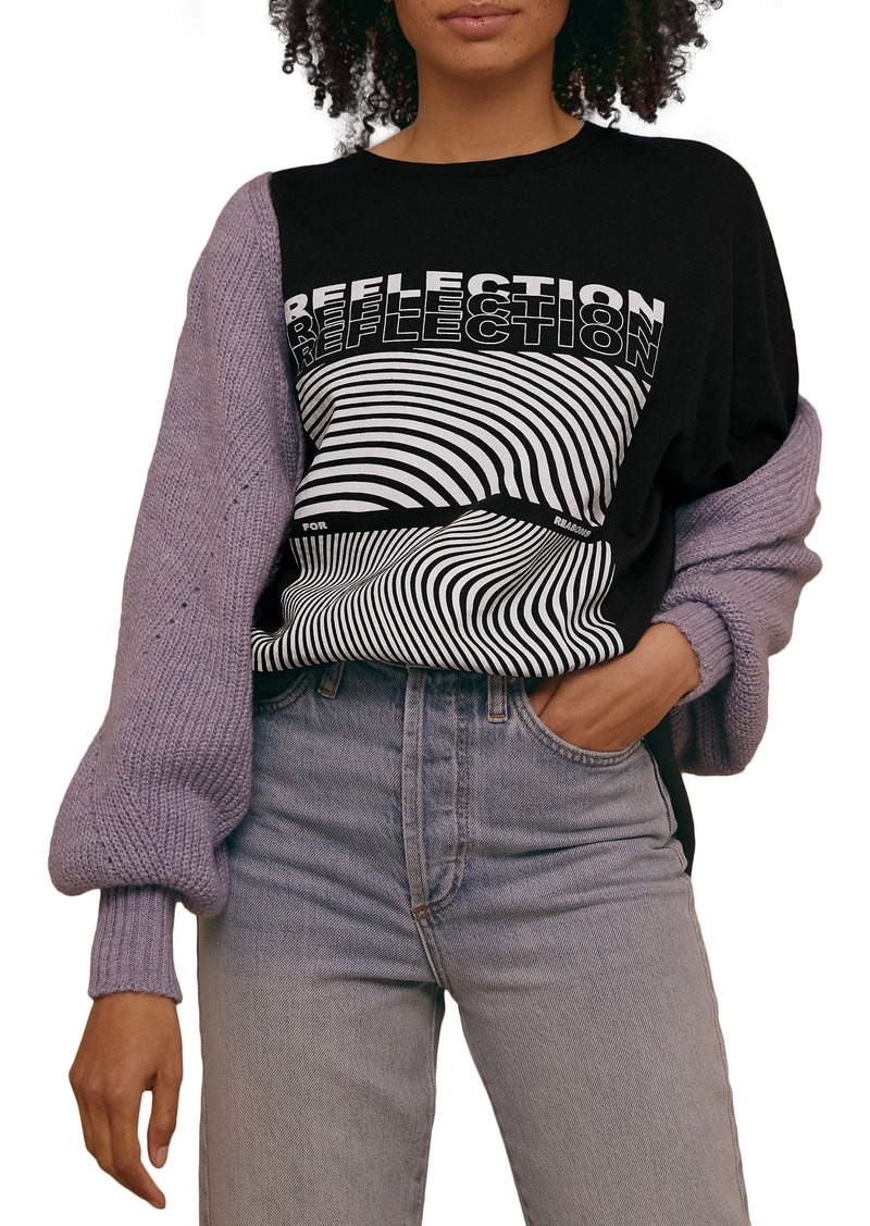 Topshop Reflection Graphic Tee