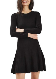 Topshop Ribbed Fit & Flare Dress