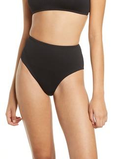 Topshop Ribbed High Waist Bikini Bottoms (Nordstrom Exclusive)