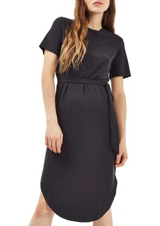 Topshop Ribbed Midi Dress