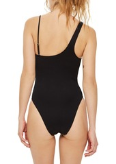706be5236e Topshop Topshop Ribbed One-Shoulder One-Piece Swimsuit