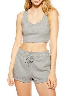 Topshop Ribbed Short Pajamas