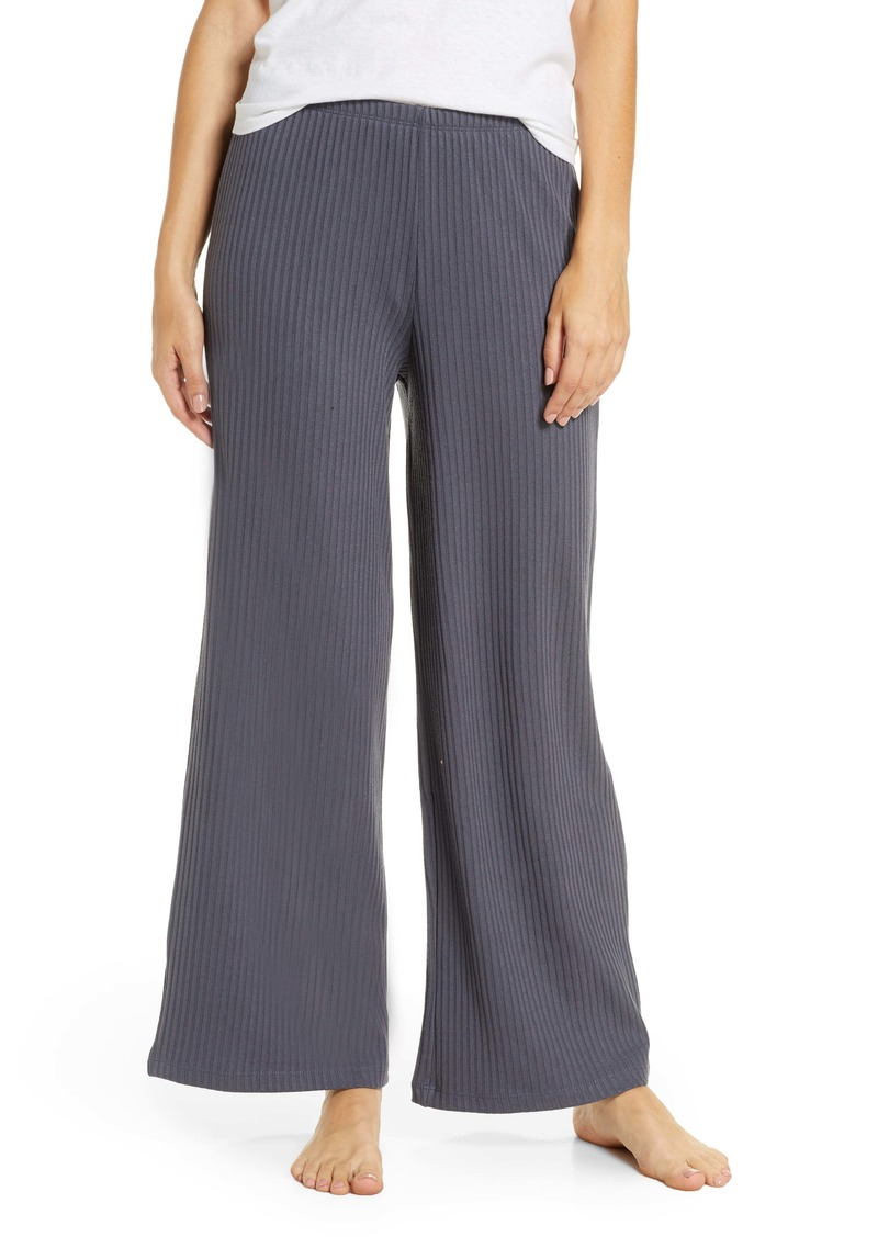 Topshop Ribbed Slouch Wide Leg Pants