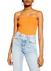 Topshop Ribbed Strapless Bodysuit