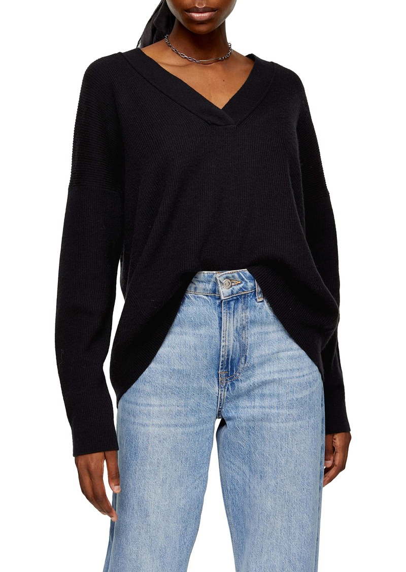 Topshop Ribbed Sweater