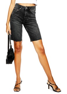Topshop Rigid Denim Cycling Shorts