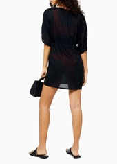 Topshop Ring Detail Cover-Up Minidress