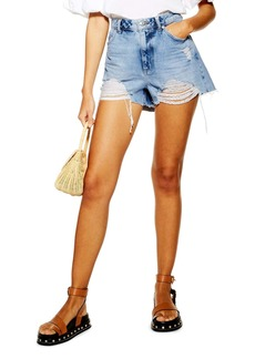 Topshop Ripped Mom Shorts