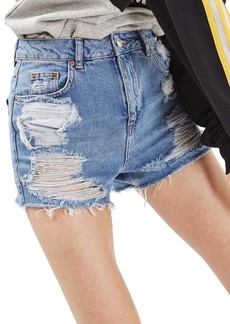 Topshop Ripped Mom Shorts