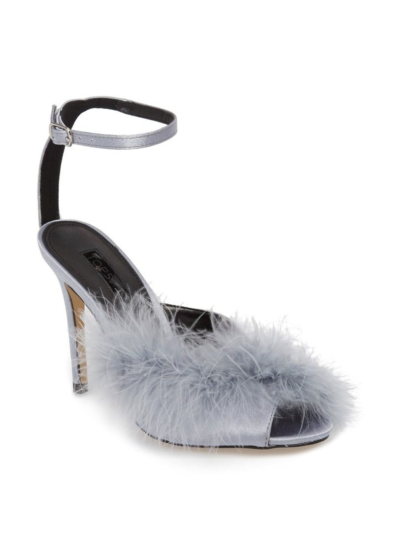 Topshop Roar Feather Sandal (Women)