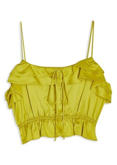 Topshop Rochelle Ruffle Charmeuse Camisole