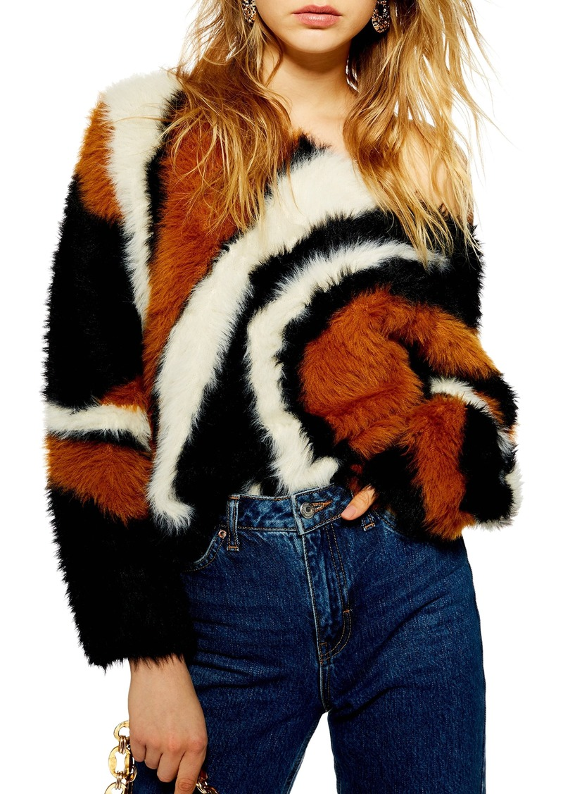 74e3c082 Topshop Topshop Rock N Roll Fluffy Sweater | Sweaters