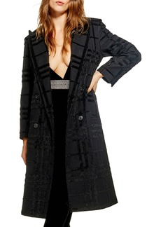 Topshop Rockit Check Coat