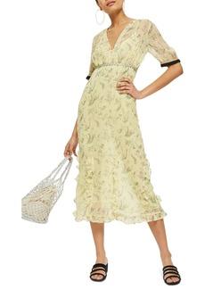 Topshop Rodeo Print Frill Midi Dress