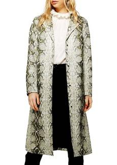 Topshop Rok It Snake Print Coat
