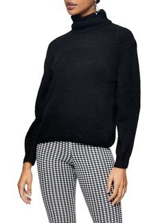 Topshop Roll Crop Sweater