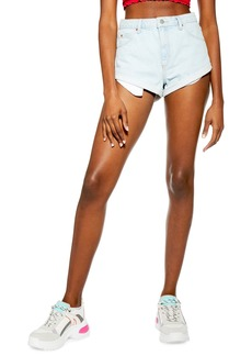 Topshop Roll Hem Denim Shorts