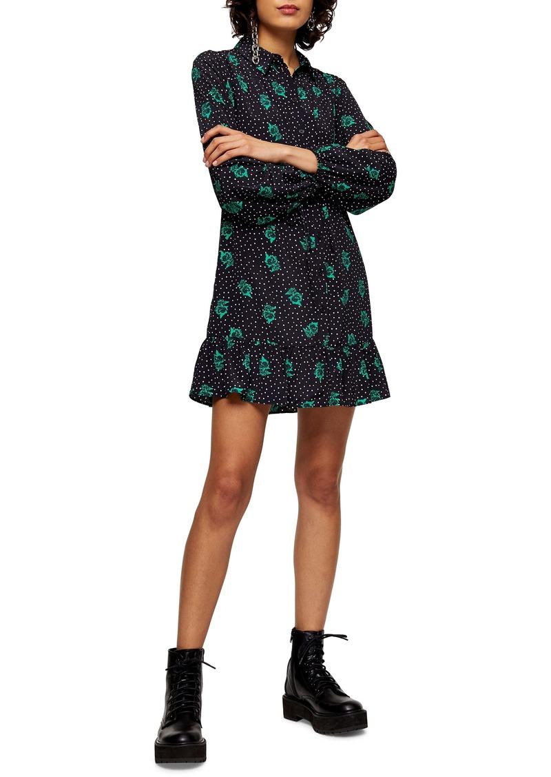 Topshop Rose & Spot Minidress