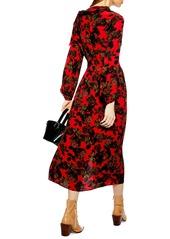 d36fa4c32e Topshop Topshop Rose Cut Tie Neck Midi Dress
