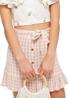 Topshop Rose Gingham Miniskirt