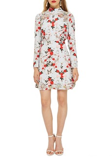 Topshop Rose Ornate Print Dress