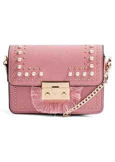 Topshop Rosie Imitation Pearl Fringe Crossbody Bag