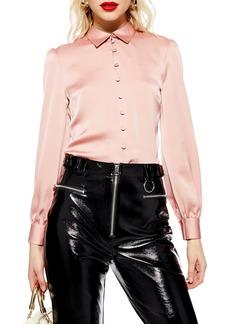 Topshop Rouleau Button Shirt