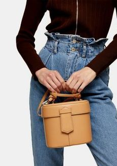 Topshop round purse in camel
