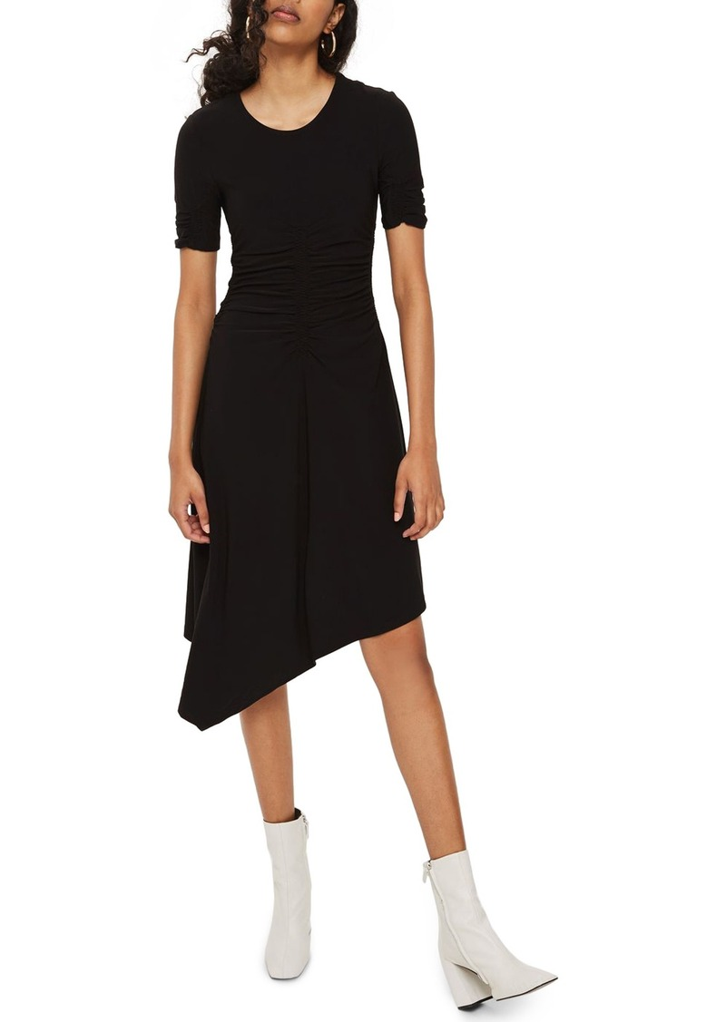 2624d81e00 Topshop Topshop Ruched Asymmetrical Dress