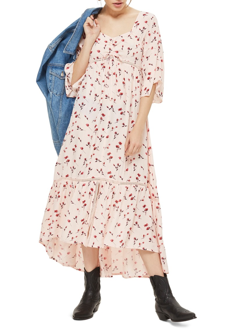 elegant in style soft and light big selection of 2019 On Sale today! Topshop Topshop Ruched Floral Maxi Dress
