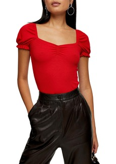 Topshop Ruched Front Top