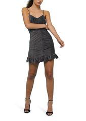 Topshop Ruched Glitter Minidress