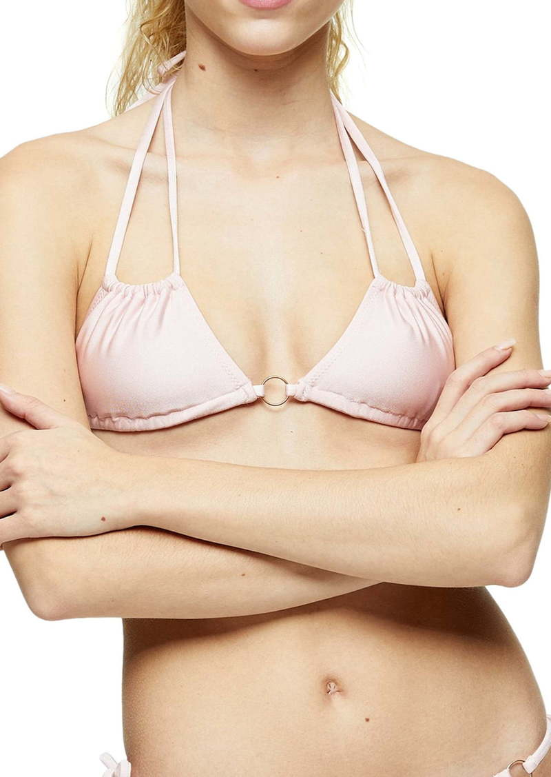 Topshop Ruched Ring Bikini Top