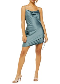 Topshop Ruched Satin Mini Slip Dress