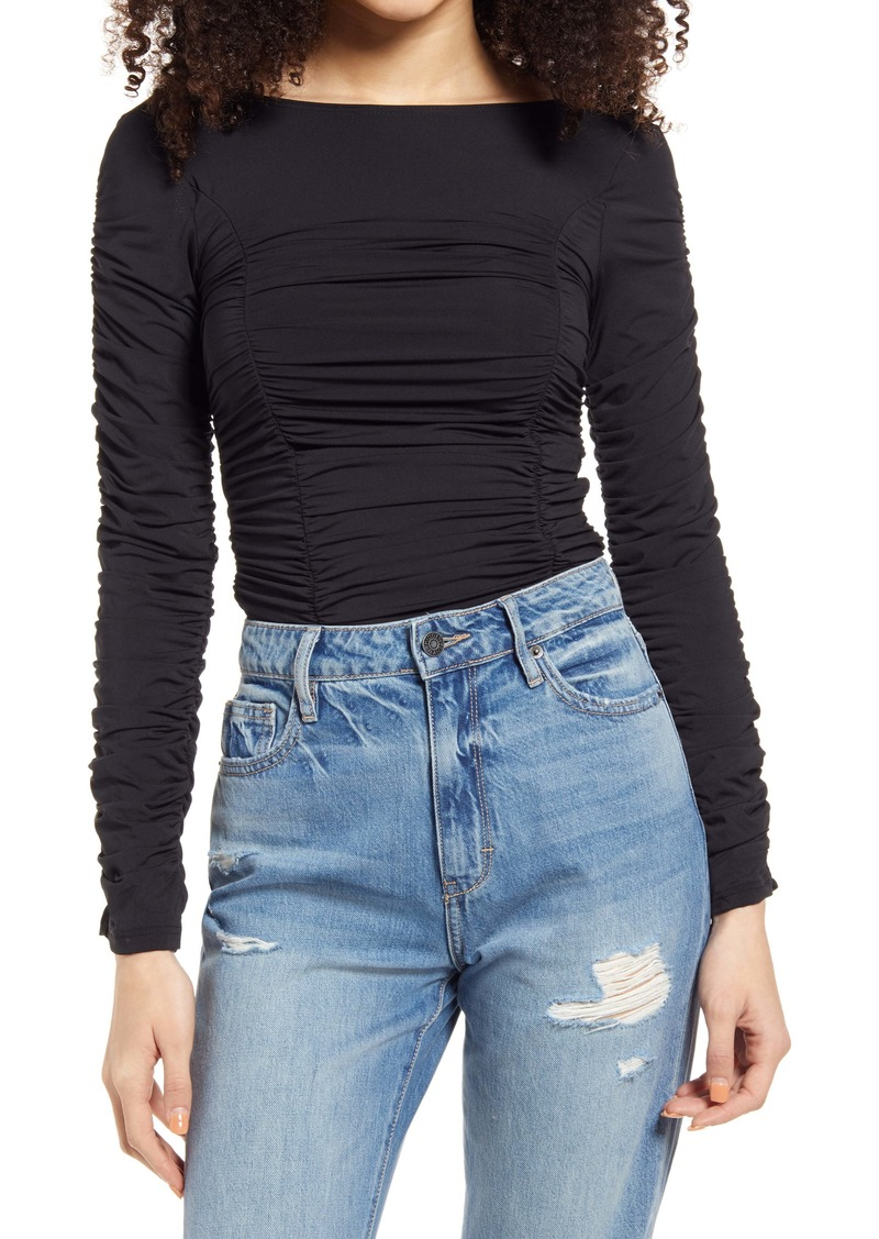 Topshop Ruched Top