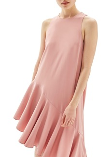 Topshop Ruffle Asymmetrical Midi Dress