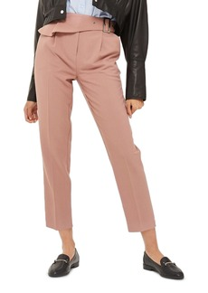 Topshop Ruffle Detail Peg Trousers