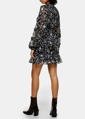 Topshop Ruffle Floral Minidress