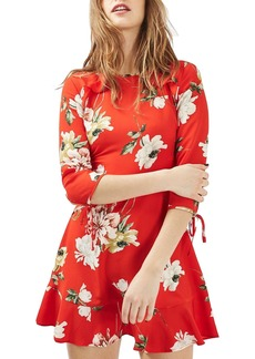 Topshop Ruffle Floral Tea Dress (Regular & Petite)