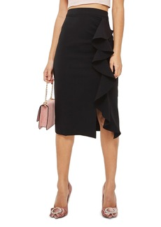 Topshop Ruffle Midi Skirt