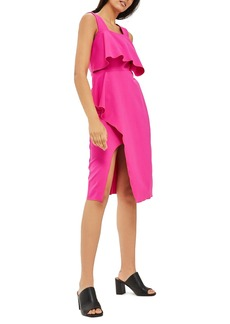 Topshop Ruffle Pencil Dress