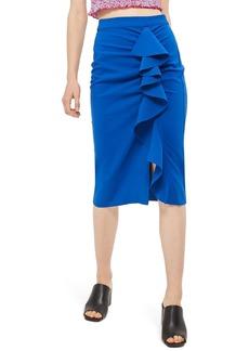 Topshop Ruffle Pencil Skirt