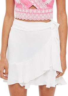 Topshop Ruffle Tie Mini Skirt