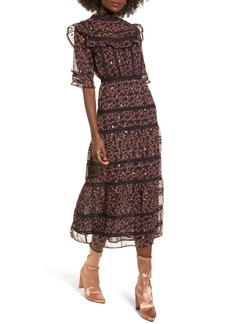 Topshop Ruffle Tier Maxi Dress
