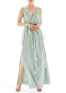 Topshop Ruffle Trim Maxi Dress
