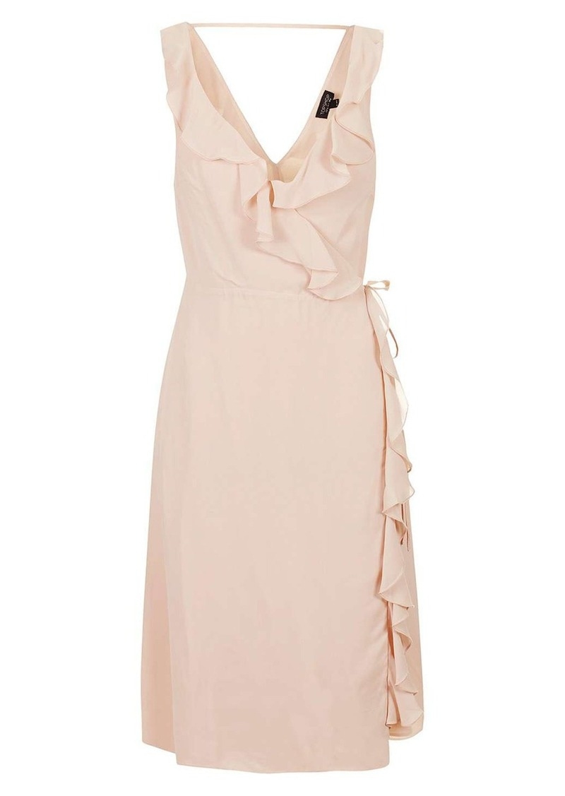 Topshop Ruffle Wrap Midi Dress