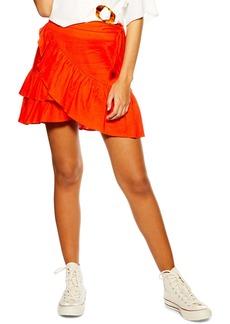 Topshop Ruffle Wrap Skirt
